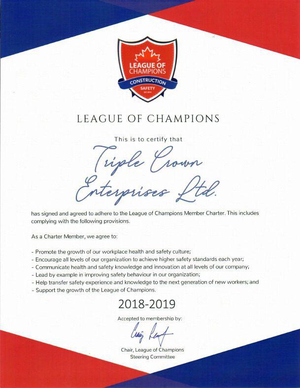 Triple Crown Enterprises (TCE) League of Champions 2018-2019